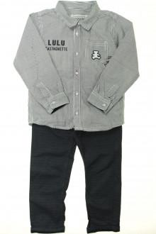 vêtements enfants occasion Ensemble pantalon et chemise Lulu Castagnette 3 ans Lulu Castagnette
