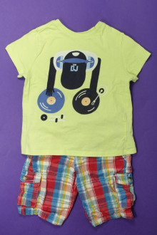 vetement occasion enfants Ensemble bermuda et tee-shirt DPAM 4 ans DPAM