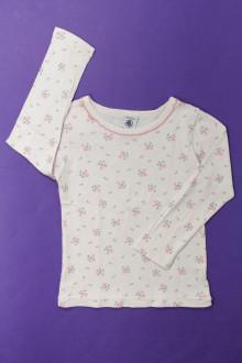 vêtement enfant occasion Tee-shirt manches longues fleuri Petit Bateau 4 ans Petit Bateau