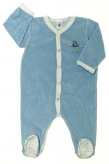 vêtements bébés Pyjama/Dors-bien en velours  Petit Bateau 9 mois Petit Bateau