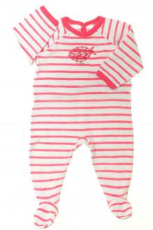 Habit d'occasion pour bébé Pyjama/Dors-bien rayé en velours  Petit Bateau 9 mois Petit Bateau