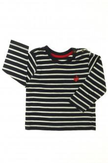 vêtements bébés Tee-shirt rayé manches longues  Grain de Blé 12 mois Grain de Blé