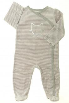 Habit d'occasion pour bébé Pyjama/Dors-bien rayé en velours Tape à l'Œil 18 mois Tape à l'œil