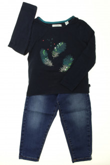 vetements enfants d occasion Ensemble jean et tee-shirt Okaïdi 3 ans Okaïdi