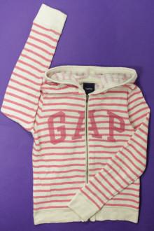 vêtements occasion enfants Sweat zippé rayé