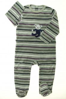 vêtements bébés Pyjama/Dors-bien en velours rayé Bout'Chou 18 mois Bout'Chou