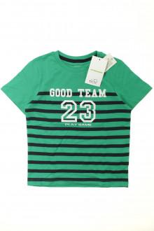 vêtements occasion enfants Tee-shirt rayé manches courtes - NEUF Vertbaudet 6 ans Vertbaudet
