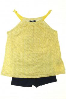 vêtements occasion enfants Ensemble blouse et short Okaïdi 8 ans Okaïdi