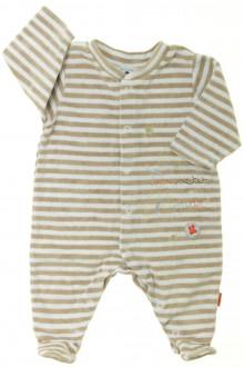 habits bébé occasion Pyjama/Dors-bien rayé en velours  Absorba 3 mois Absorba