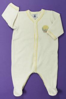 habits bébé Pyjama/Dors-bien en velours milleraies Petit Bateau 1 mois Petit Bateau