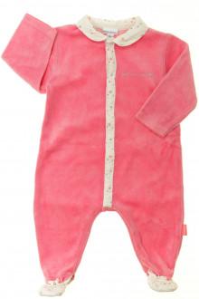 habits bébé Pyjama/Dors-bien en velours P'tit Bisou 3 mois P'tit Bisou