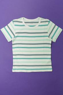 vetement occasion enfants Tee-shirt rayé manches courtes Vertbaudet 5 ans Vertbaudet
