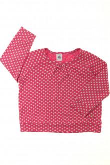vêtements occasion enfants Tee-shirt manches longues à pois Petit Bateau 3 ans Petit Bateau