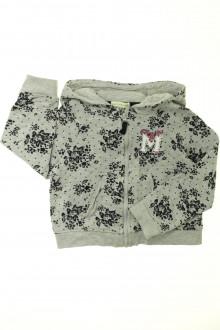 vêtements enfants occasion Sweat zippé fleuri Vertbaudet 4 ans Vertbaudet