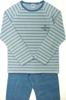 vêtements d occasion enfants Pyjama rayé en velours Petit Bateau 10 ans Petit Bateau