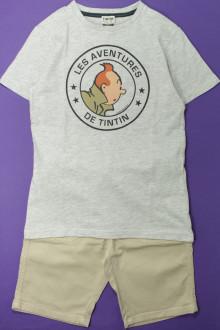 vetements enfants d occasion Ensemble bermuda et tee-shirt Cyrillus 10 ans Cyrillus