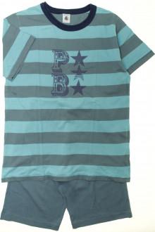 vetement enfant occasion Pyjama court à rayures Petit Bateau 10 ans Petit Bateau