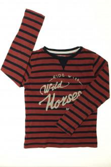 vetements enfants d occasion Tee-shirt manches longues rayé Monoprix 8 ans Monoprix