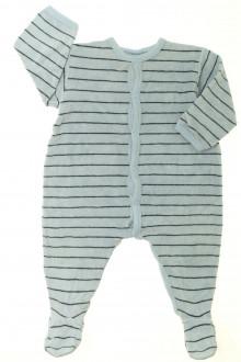 vetements d occasion bébé Pyjama/Dors-bien rayé en éponge Petit Bateau 12 mois Petit Bateau