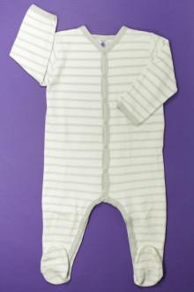 habits bébé Pyjama/Dors-bien rayé en velours Petit Bateau 18 mois Petit Bateau