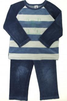 vetement occasion enfants Pyjama bi-matière Petit Bateau 5 ans Petit Bateau