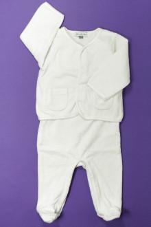 Habit d'occasion pour bébé Ensemble dors-bien et brassière Bout'Chou 3 mois Bout'Chou