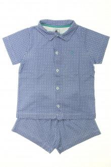 vetement occasion enfants Pyjama veste court Petit Bateau 5 ans Petit Bateau