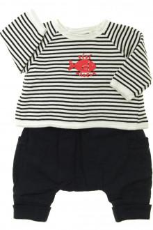 habits bébé occasion Ensemble sarouhel et sweat Bout'Chou 1 mois Bout'Chou