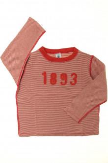 vêtements enfants occasion Tee-shirt manches longues milleraies Petit Bateau 6 ans Petit Bateau