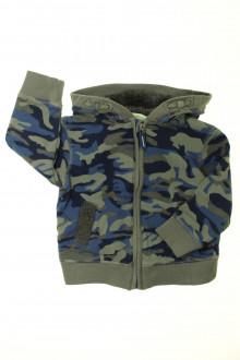vêtements occasion enfants Sweat zippé camouflage Vertbaudet 3 ans Vertbaudet