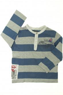 vetement enfants occasion Tee-shirt manches longues à rayures Marèse 3 ans Marèse