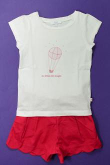 vetement enfant occasion Ensemble short et tee-shirt Jacadi 4 ans Jacadi