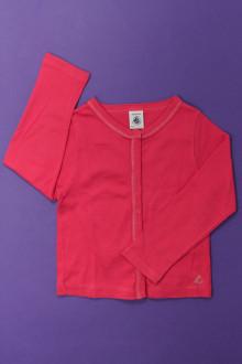 vetement  occasion Tee-shirt manches longues à pressions Petit Bateau 3 ans Petit Bateau