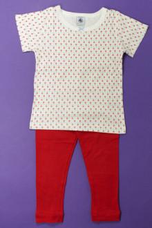 vetements d occasion enfant Ensemble tee-shirt et legging Petit Bateau 3 ans Petit Bateau