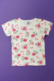 vetement occasion enfants Tee-shirt fleuri manches courtes Petit Bateau 4 ans Petit Bateau