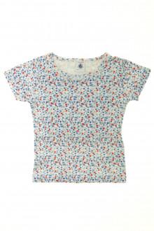 vetement occasion enfants Tee-shirt fleuri manches courtes Petit Bateau 3 ans Petit Bateau