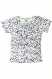 vetements enfant occasion Tee-shirt fleuri manches courtes Petit Bateau 4 ans Petit Bateau