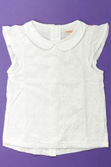 vêtements occasion enfants Tee-shirt manches courtes broderie anglaise DPAM 4 ans DPAM
