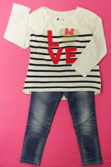 vetements enfant occasion Ensemble tregging et tee-shirt Gap 3 ans Gap