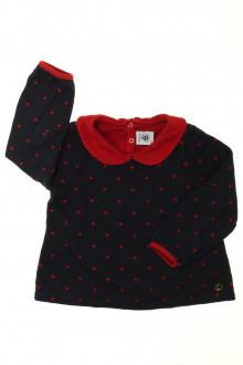 vetements enfants d occasion Tee-shirt doublé manches longues Petit Bateau 3 ans Petit Bateau