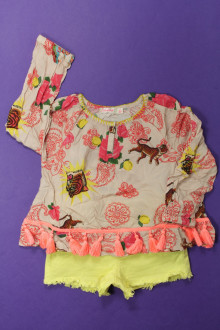vetements enfants d occasion Ensemble short et blouse Billieblush 4 ans Billieblush