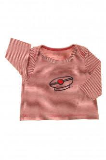 habits bébé occasion Tee-shirt manches longues milleraies Natalys 1 mois Natalys