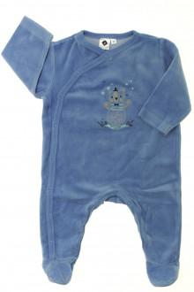 vêtements bébés Pyjama-Dors-bien en velours