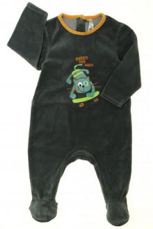 vetement bébé d occasion Pyjama-Dors-bien en velours