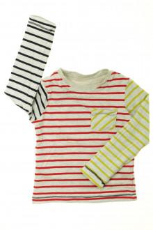 vetement occasion enfants Tee-shirt manches longues réversible Vertbaudet 4 ans Vertbaudet