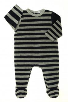 Habits pour bébé Pyjama/Dors-bien rayé en velours DPAM 6 mois DPAM