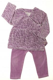 vetement enfant occasion Pyjama fleuri en velours Vertbaudet 2 ans Vertbaudet