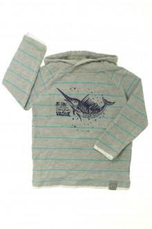 vetement enfant occasion Tee-shirt manches longues à capuche Vertbaudet 4 ans Vertbaudet