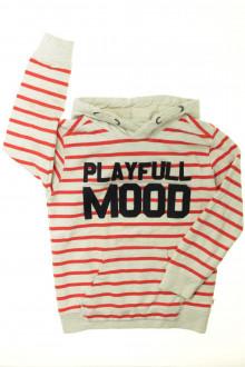 vêtements occasion enfants Sweat rayé à capuche Okaïdi 6 ans Okaïdi