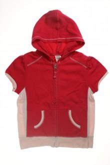 Sweat zippé à capuche et manches courtes d'occasion de la marque Gap en taille 4 ans Gap